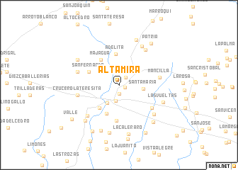 map of Altamira