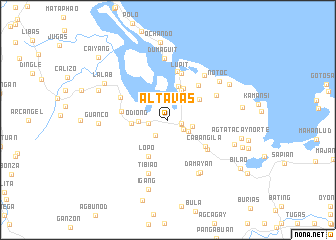 map of Altavas