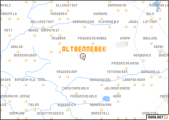 map of Alt Bennebek