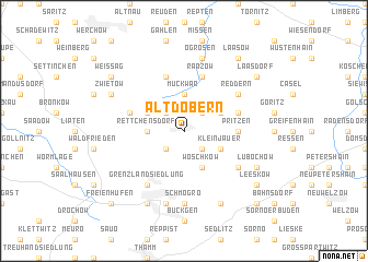 map of Altdöbern