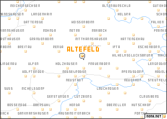 map of Altefeld