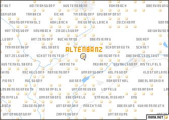 map of Altenbanz