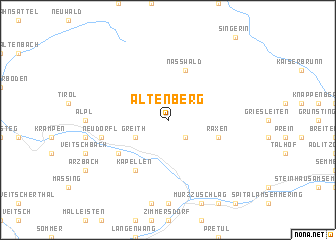 map of Altenberg