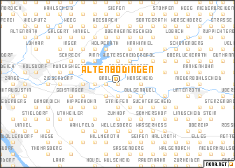 map of Altenbödingen