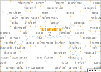 map of Altenburg