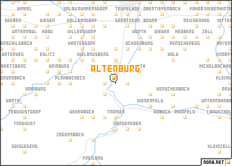 map of Altenburg