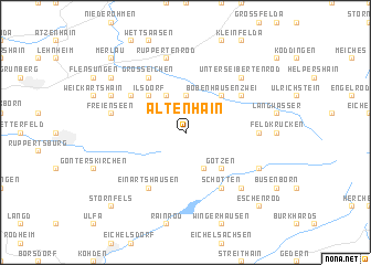 map of Altenhain