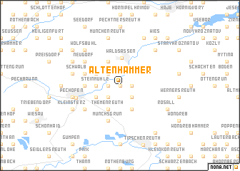 map of Altenhammer