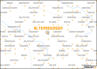 map of Altenmedingen