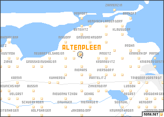 map of Altenpleen