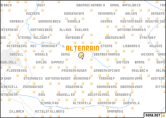 map of Altenrain