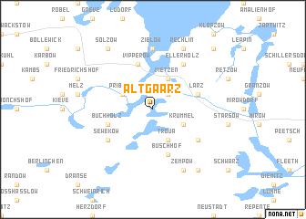map of Alt Gaarz