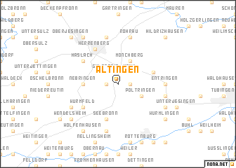 map of Altingen