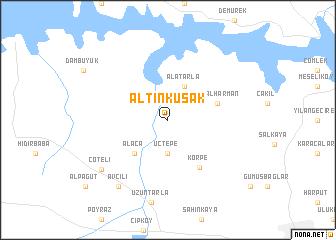 map of Altınkuşak