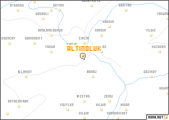 map of Altınoluk