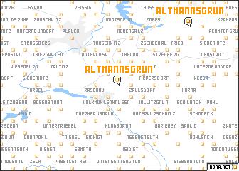 map of Altmannsgrün