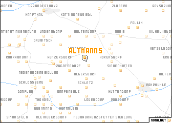 map of Altmanns