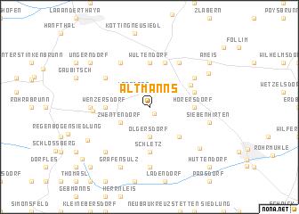 map of Altmanns