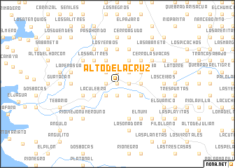 map of Alto de La Cruz