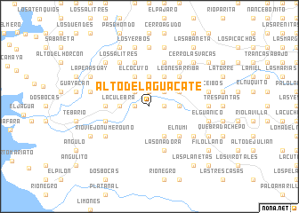 map of Alto del Aguacate