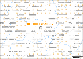map of Alto de Las Mejías