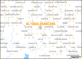 map of Alto de los Machos