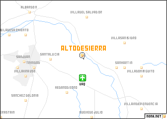 map of Alto de Sierra