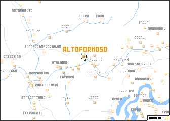 map of Alto Formoso