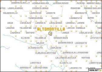 map of Alto Montilla