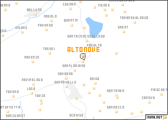 map of Alto Nove