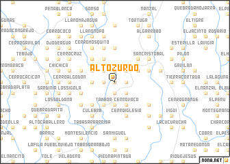 map of Alto Zurdo