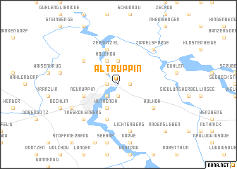 map of Alt Ruppin