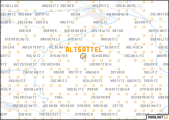 map of Altsattel