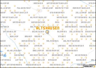 map of Altshausen