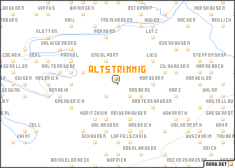 map of Altstrimmig