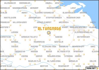 map of Alt Ungnade