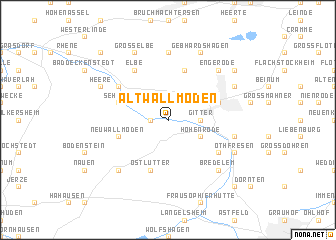 map of Alt Wallmoden