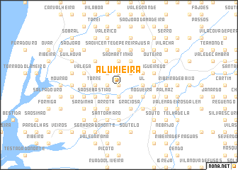 map of Alumieira