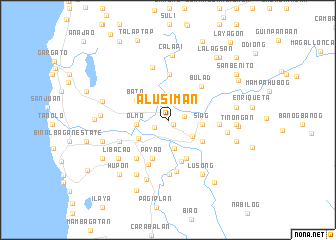 map of Alusiman