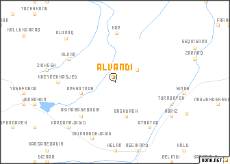 map of Alvandī