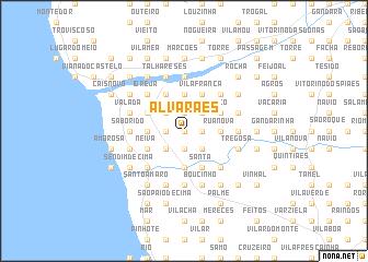map of Alvarães