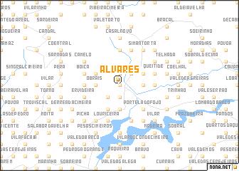 map of Alvares