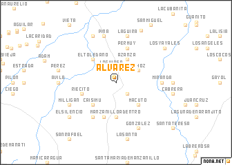 map of Álvarez