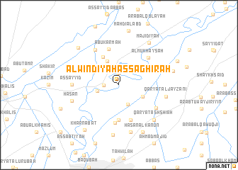 map of Al Windīyah aş Şaghīrah