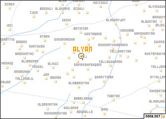 map of 'Alyān