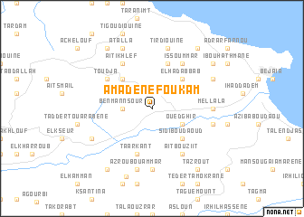 map of Amadene Foukam