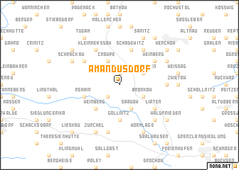 map of Amandusdorf