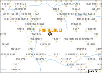 map of Amane Oulli
