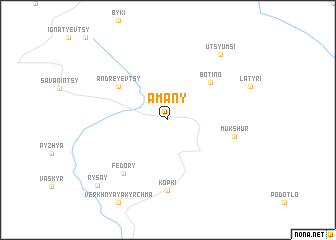 map of Amany