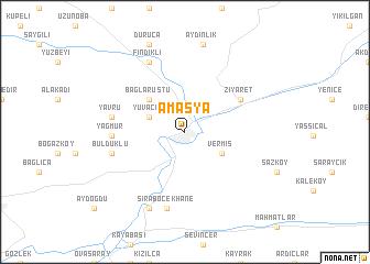 Amasya Turkey map nonanet